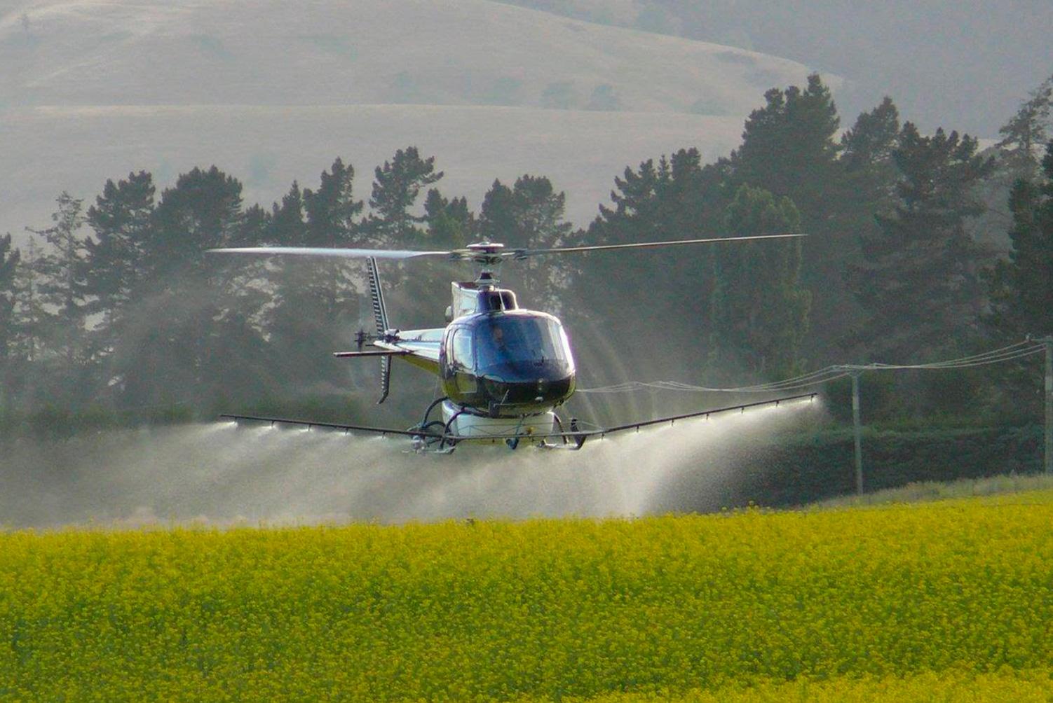 Aprovação de Helicópteros para pulverização