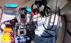 transporte aeromédico - asa rotativa